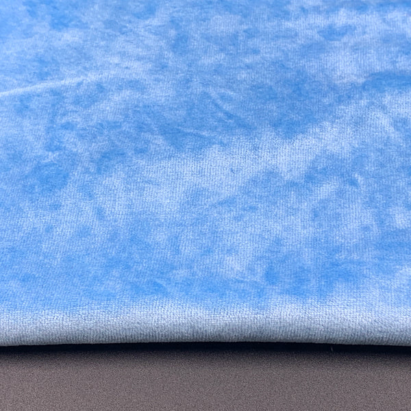 Bamboo Organic Cotton Velour - Blue