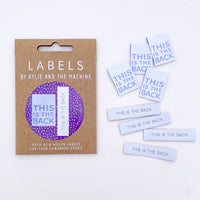 """THIS IS THE BACK"" (Dual Pack) Woven Label Pack - Kylie And The Machine"