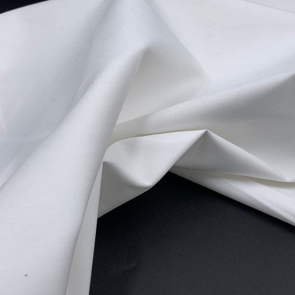 White - Simplifi Fabric - Organic Cotton Solid Poplin