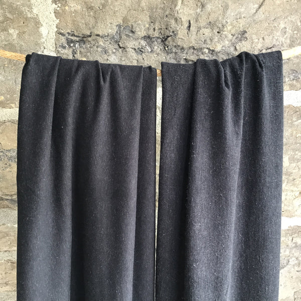 Bamboo Hemp Stretch French Terry - Black
