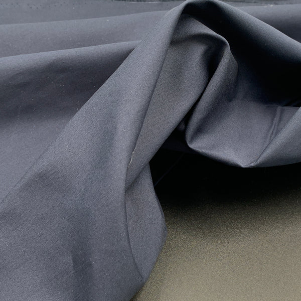 Dark Navy Blue - Simplifi Fabric - Organic Cotton Solid Poplin