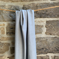 Hemp Organic Cotton Spandex Ribbing 280 gsm - Grey Wide