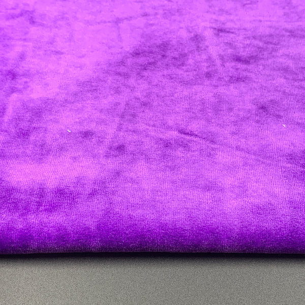 Bamboo Organic Cotton Velour - Purple