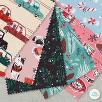Dashing Thru The Snow - Jingle Mingle (A Curated Collection of Christmas Prints) - Louise Cunningham - Cloud 9 Fabrics - Poplin