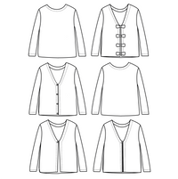 Masha Mum Cardigan & Sweater Sewing Pattern- Ladies 34/46 - Ikatee
