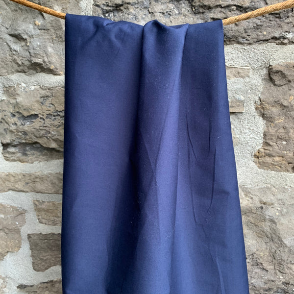 Navy - Simplifi Fabric - Organic Cotton Solid Poplin