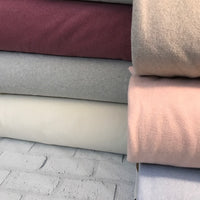 Organic Cotton Polar Fleece - European Import - Taupe Melange