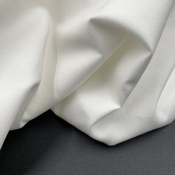 Off White - Simplifi Fabric - Organic Cotton Solid Poplin