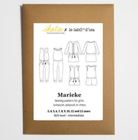 Marieke Jumpsuit, Playsuit & Dress Sewing Pattern - Girl 3/12Y - Ikatee