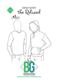 The Relaxed - Sweatshirt - Mens Sewing Pattern - Patrons Les BG