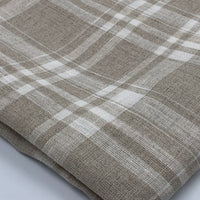 Linen - Simplifi Plaid Collection - Beige/White Color 1