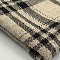 Linen - Simplifi Plaid Collection - Beige/Black Color 4