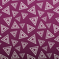 Cotton Panama - Oeko-Tex® - European Import -  TRIANGLES - Magenta
