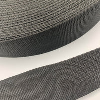 "2"" Medium Weight Polypropylene Webbing - Black - By The Yard/36"""