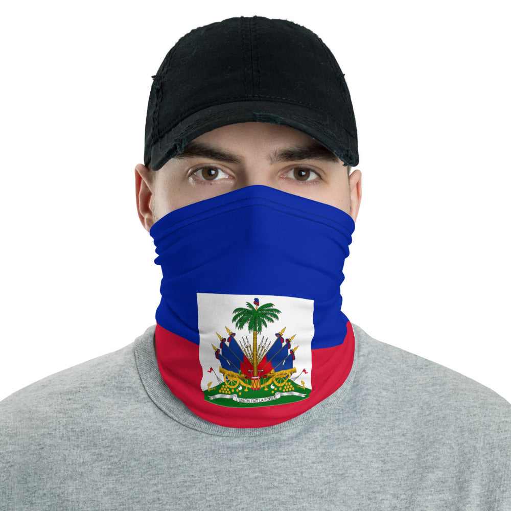 Haitian Flag  Face Mask, Neck gaiter, Headband