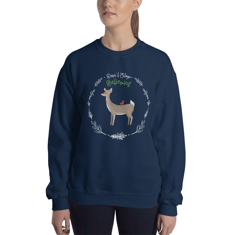 Dont Stop Believing Holiday Sweatshirt
