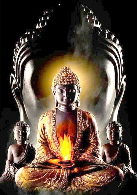 Buddha flamme - Broderie de Diamants