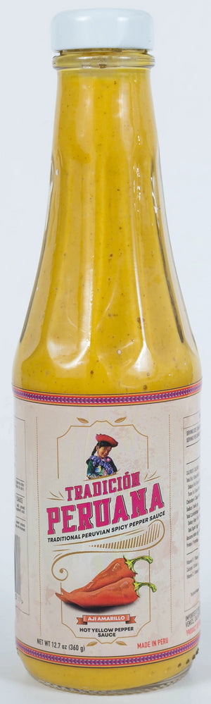 1x Large Bottle Aji Amarillo - Peruvian Spicy Yellow Pepper Sauce - 12.7 oz