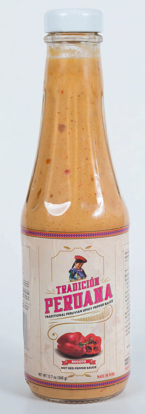 1x VEGAN Large Bottle Rocoto - Peruvian Spicy Red Pepper Sauce - 12.7 oz