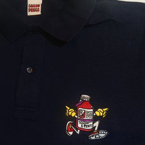 """Runaway"" Polo Uniform Shirt (black)"