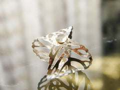 Leaf Ring Silver Plated Crystal Clear Swarovski Rhinestone