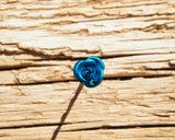 Blue Rose Hairclip Adornment Hair Accessory