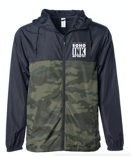 Soho Ink Windbreaker Jacket Camo