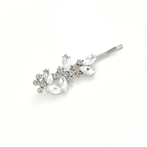 ERIN HAIR PIN SILVER - Black & Bloom