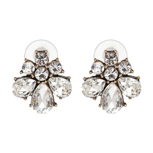 MADISON EARRINGS - Black & Bloom