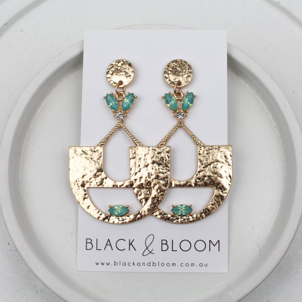ALLY EARRINGS - Black & Bloom