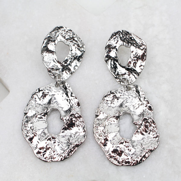 SORRENTO EARRINGS SILVER - Black & Bloom
