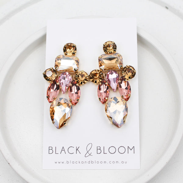 KATE EARRINGS GOLD - Black & Bloom