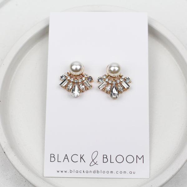 ARI EARRINGS - Black & Bloom