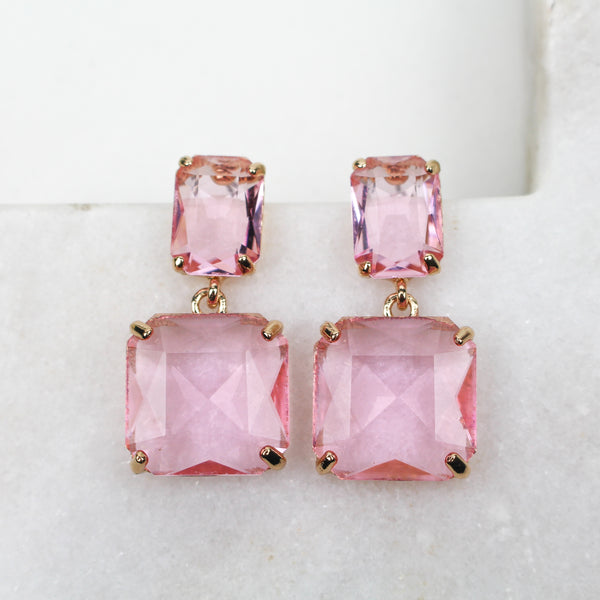 BRONTE EARRINGS PINK - Black & Bloom