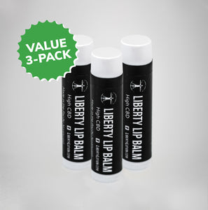 [3-pack] Liberty CBD Lip Balm