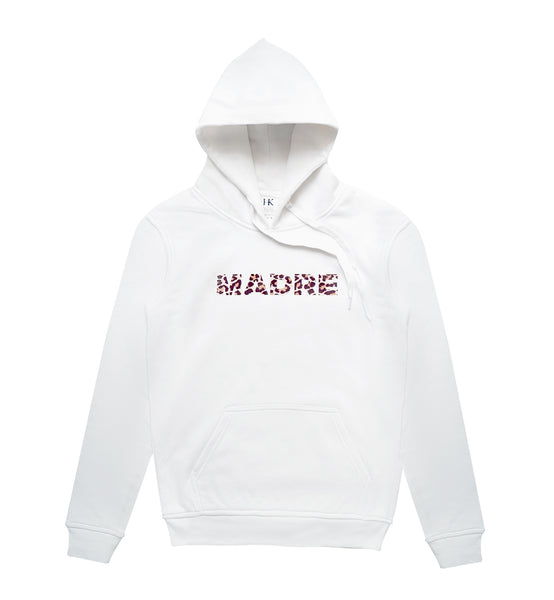 MADRE HOODIE // WHITE LEOPARD