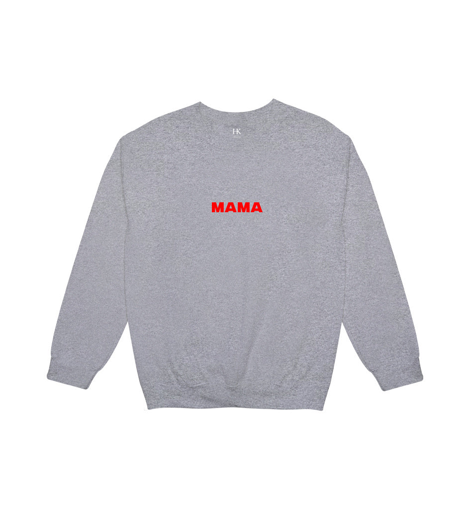 MAMA // GREY ON RED