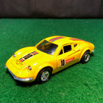 ferrari_246_dino_n_10_yellow_w/friction_motor_by_shinsei_1-37_(4405)(no_box)-1_at_albaco.com