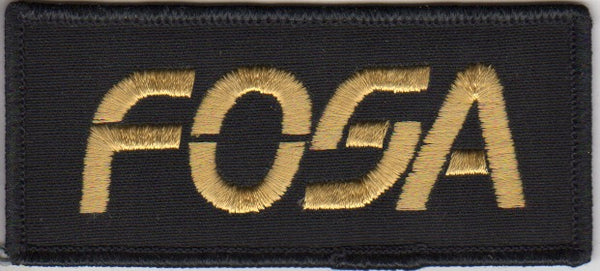fosa_sew-on_patch_(gold)-1_at_albaco.com