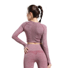 Load image into Gallery viewer, Women Long Sleeve Yoga Top