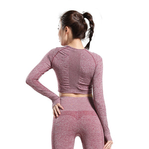 Women Long Sleeve Yoga Top