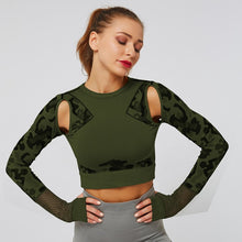 Load image into Gallery viewer, Crop Top Camouflage