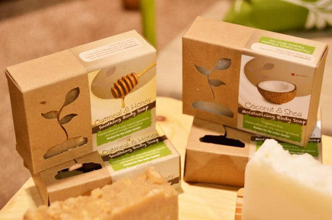 Eco Sprout Handcrafted Soothing Body Soap- Oatmeal & Honey