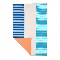 Farm Boy Burp Cloth with Gray and Blue Stripes