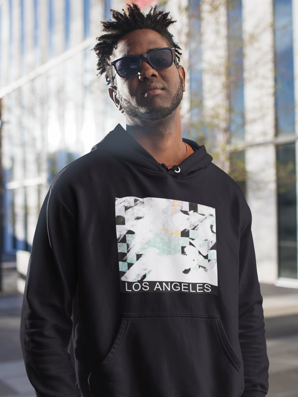 Hoodie with Los Angeles Motif