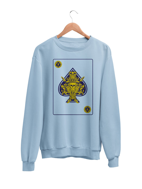 Sweatshirt with Ace Motif