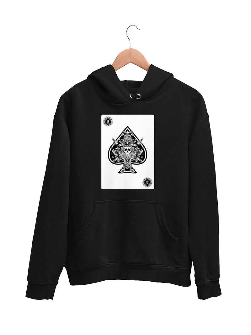 Hoodie with Ace Card Motif