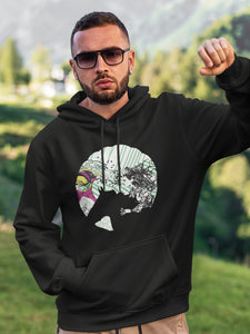 Hoodie with Joan of Android Motif