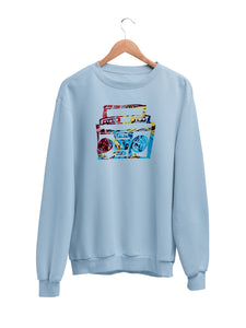 Sweatshirt with Boombox Motif - Women