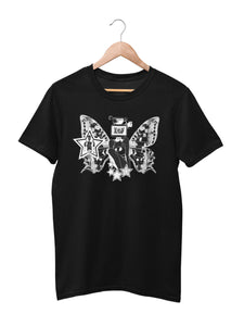 T-shirt printed with Butterfly motif